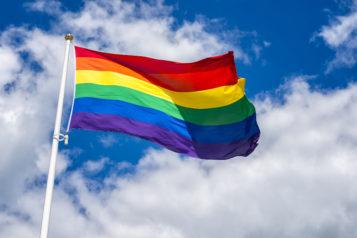 Pride flag. HBTQ flag. Rainbow flag